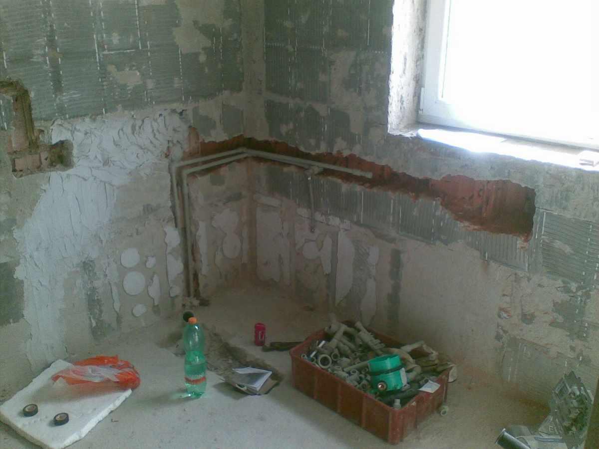 Spořlivo, průběh rekonstrukce koupelny 2