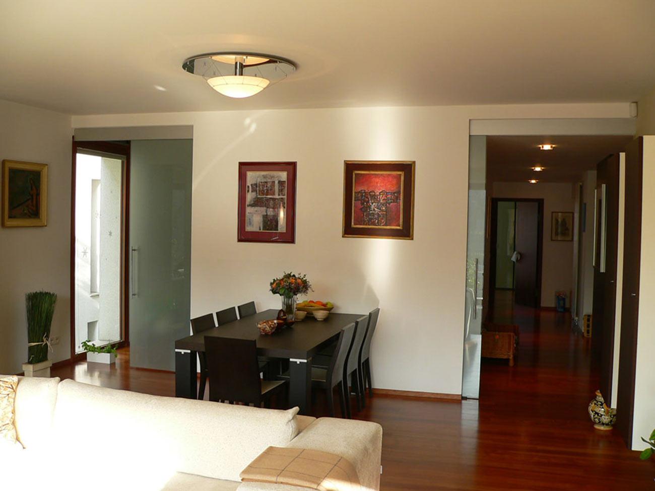 Vila Bianca, finální realizace návrhu obývacího pokoje.