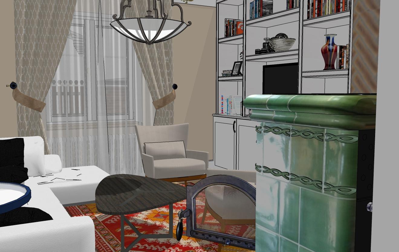 Žižkov obývací pokoj