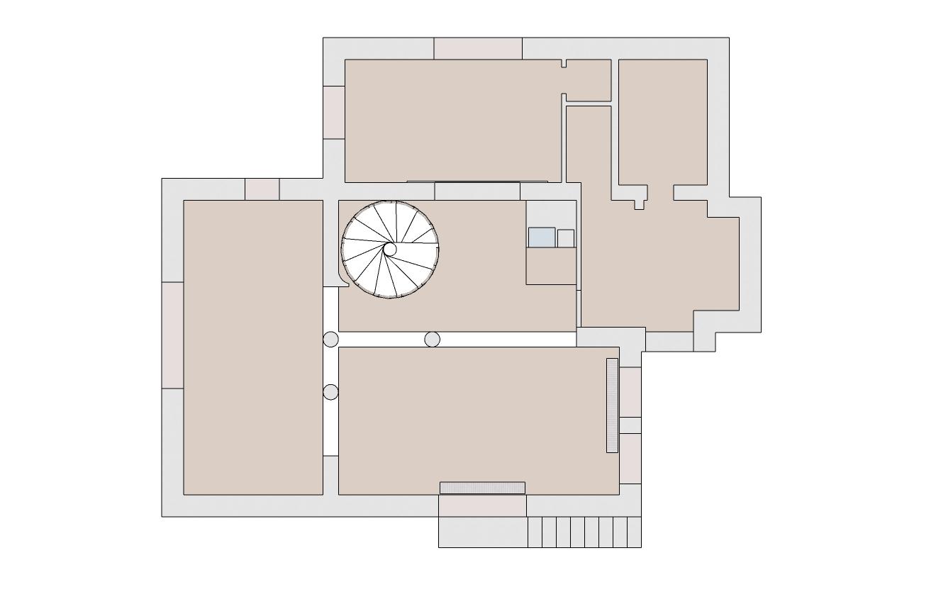 Spořilov, začátek navrhování přízemí domu1