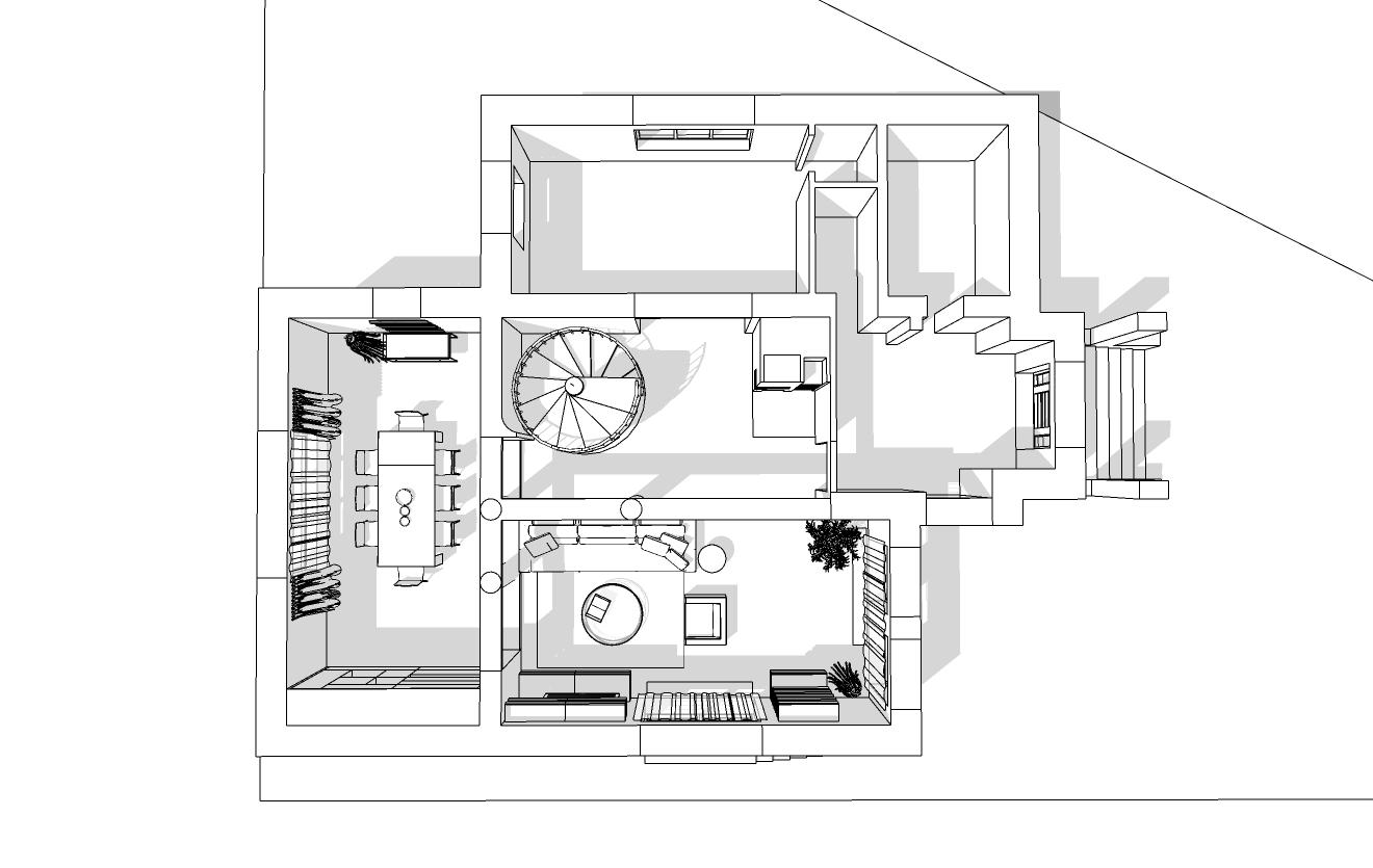 Spořilov, začátek navrhování přízemí domu 3