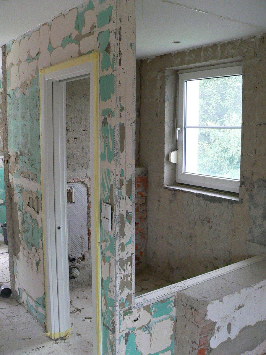 Slivenec, průběh rekonstrukce koupelny1