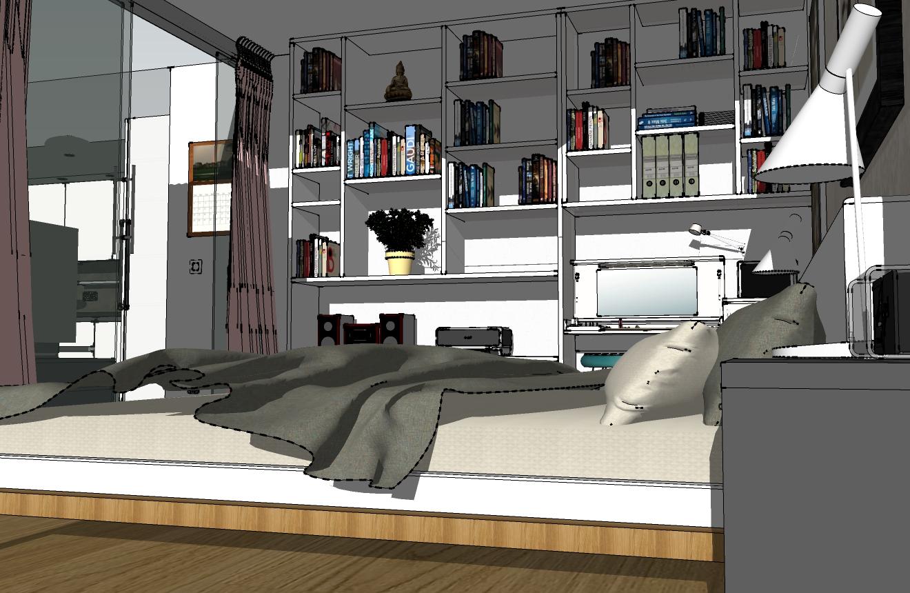 Vysočany ložnice 2